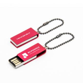 Obrotywy czerwony pendrive SLIM 2 GB USB 2.0
