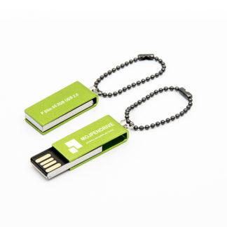 Obrotywy zielony pendrive SLIM 2 GB USB 2.0