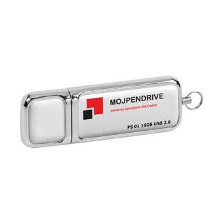 Biały, skórzany pendrive PS 01 16GB USB 2.0