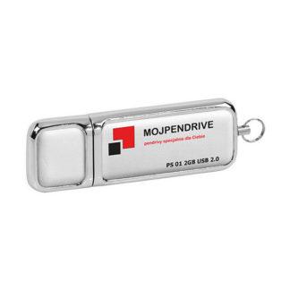 Biały, skórzany pendrive PS 01 2GB USB 2.0