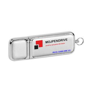 Biały, skórzany pendrive PS 01 32GB USB 3.0