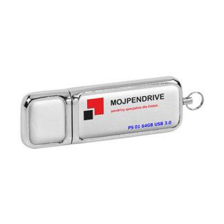 Biały, skórzany pendrive PS 01 64GB USB 3.0